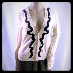 J. Crew button up cardigan blouse pima cotton M
